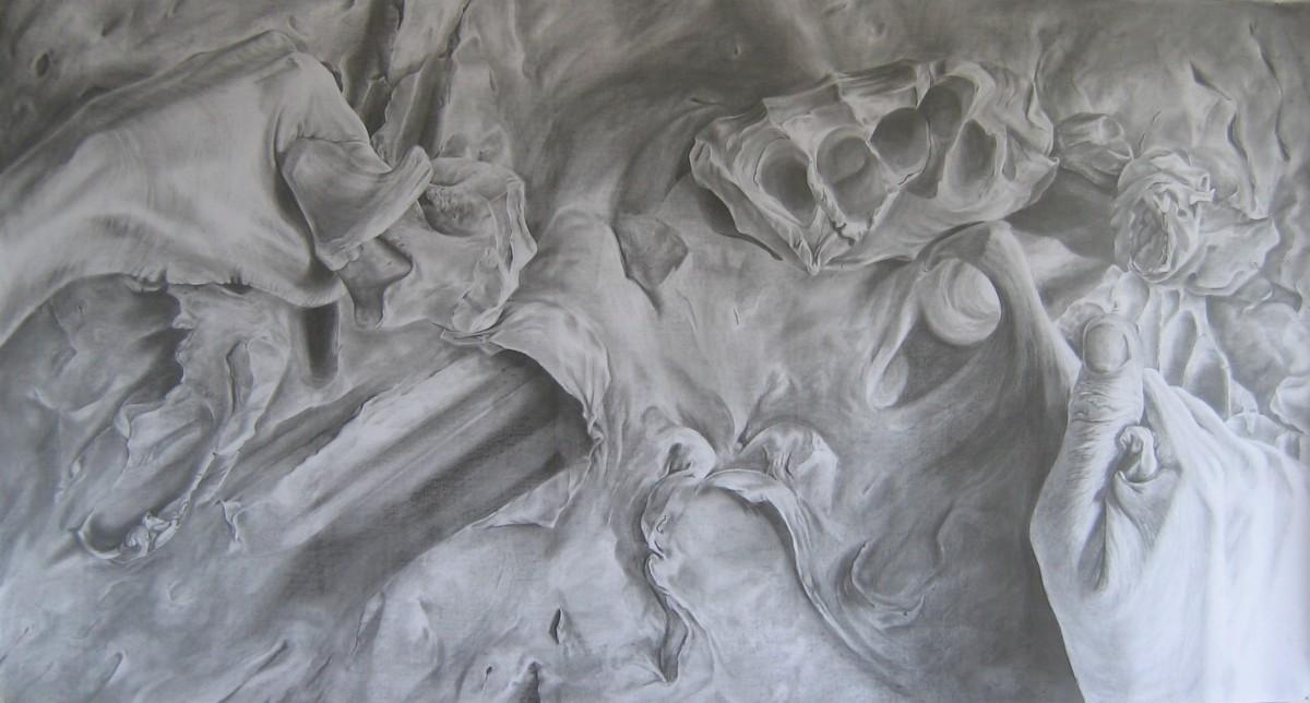 Lève-toi et marche. Dessin original à la mine de plomb : Ludmila Volf (2006)