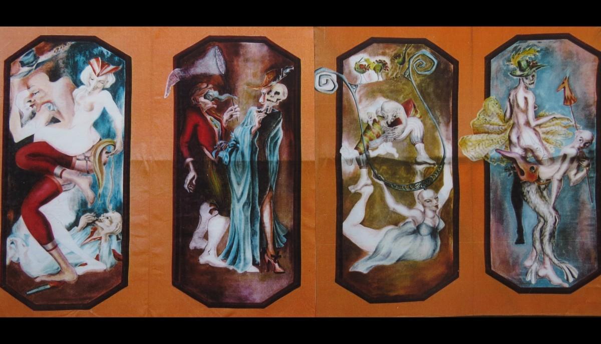 14 peintures érotiques originales
