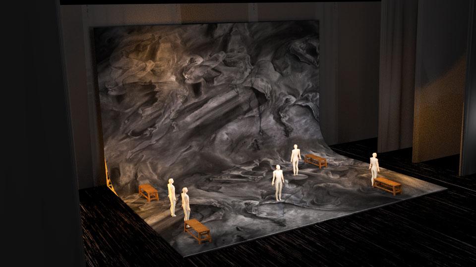 Maquette 3D Blender d'Olivier Borne a partir du dessin original de Ludmila Volf