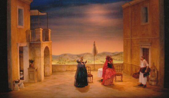 toile peinte-la Locandiera
